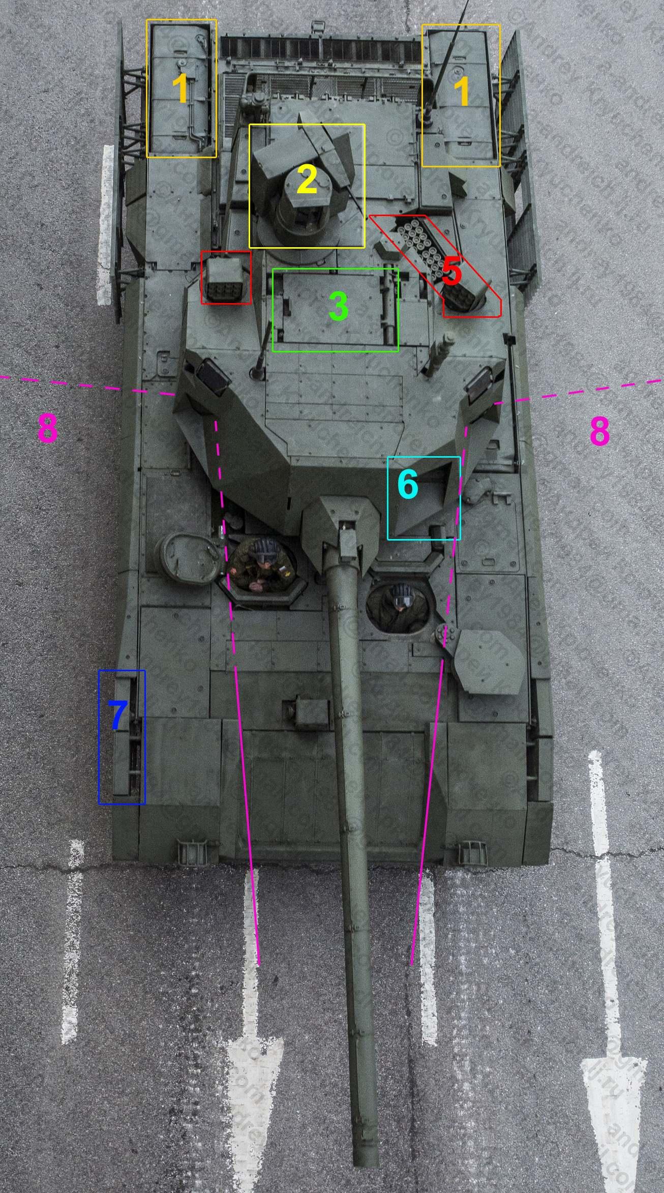 Танк Т-14 вид сверху